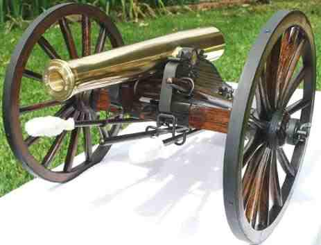 Napoleon on field carriage