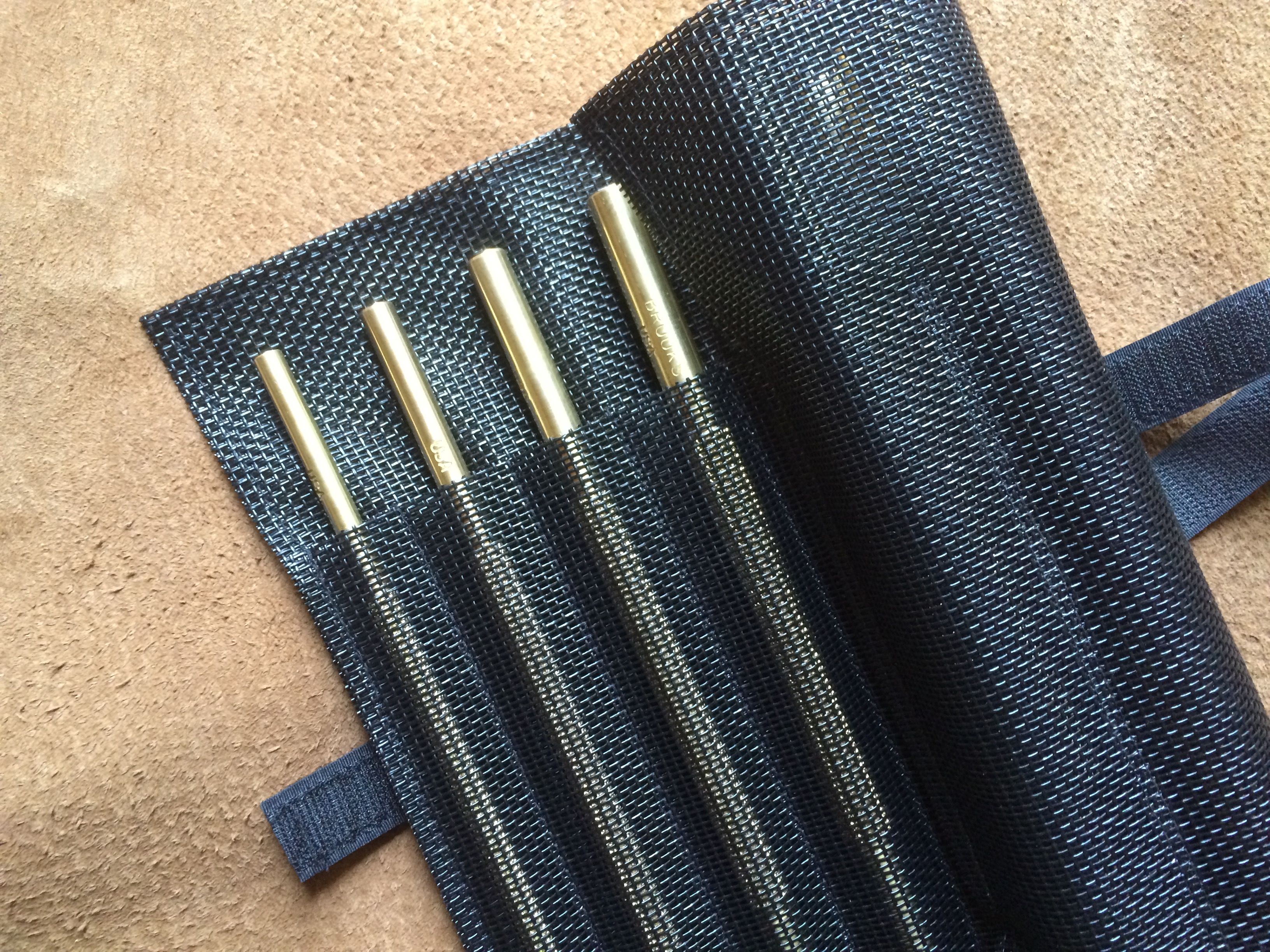 BROOKS brass drift punch kit