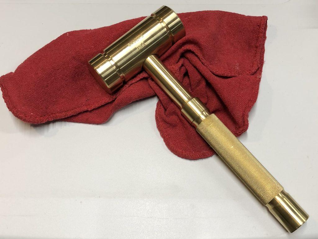 BROOKS 4 Pound Brass Hammer