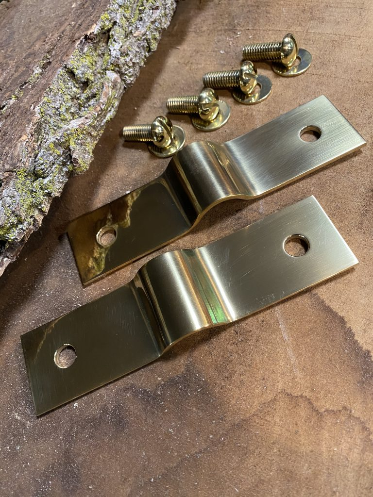 BROOKS Cannon Hardware Solid Brass Set